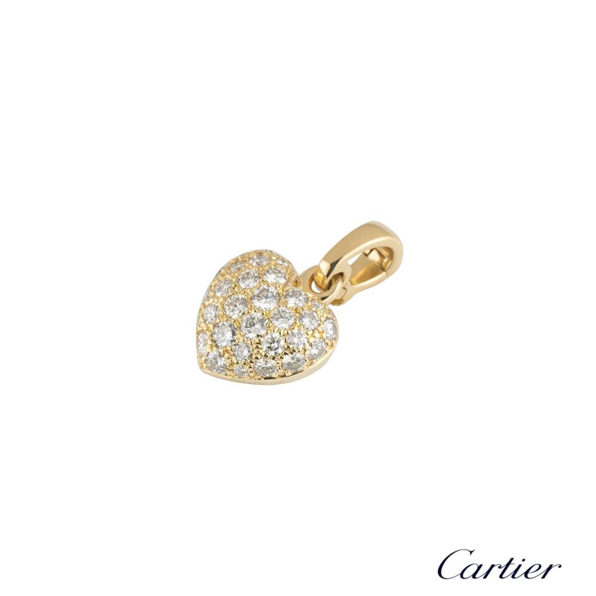 Cartier Yellow Gold Diamond Charm Pendant